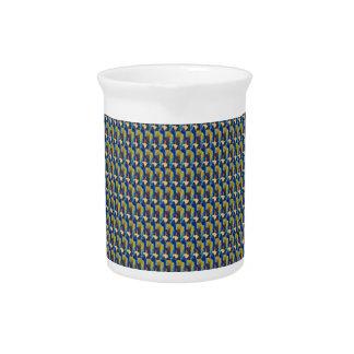 ZOOM view Elegant TEXTURE DIY Template add TXT IMG Beverage Pitchers