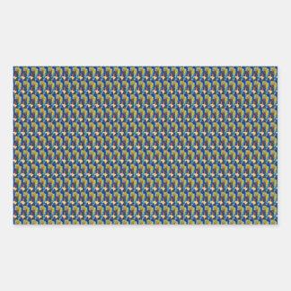 ZOOM view Elegant TEXTURE DIY Template add TXT IMG Rectangular Sticker