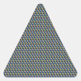 ZOOM view Elegant TEXTURE DIY Template add TXT IMG Triangle Sticker