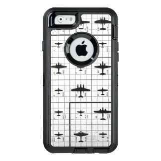 Zoom View of WWII Aircraft Silhouettes OtterBox Defender iPhone Case