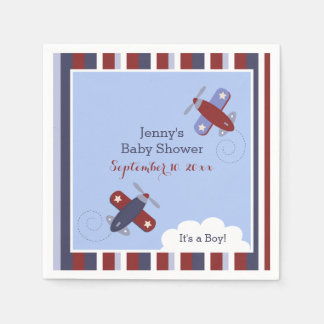 Zooming Along Airplane Customized Napkins Disposable Napkin