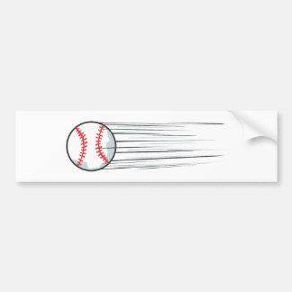 Zooming Baseball Hit Bumper Sticker