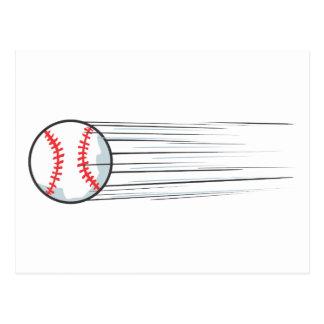 Zooming Baseball Hit Postcard