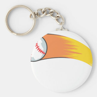 Zooming Baseball Keychain