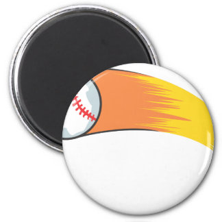 Zooming Baseball 2 Inch Round Magnet