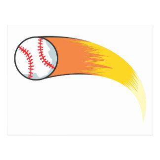 Zooming Baseball Postcard
