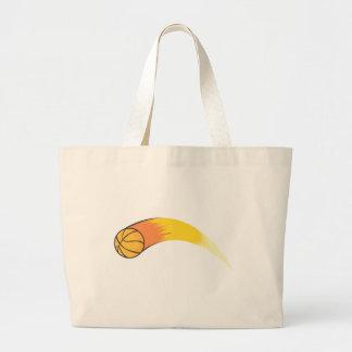 Zooming Basketball Large Tote Bag