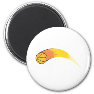 Zooming Basketball Magnet