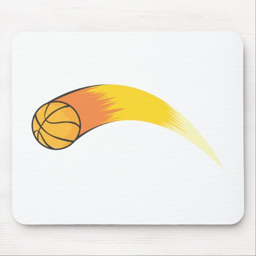 Zooming Basketball Mouse Pad