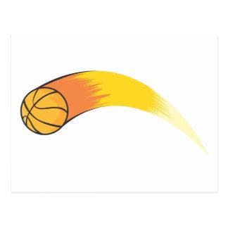 Zooming Basketball Postcard