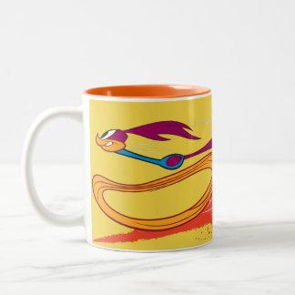Zooming Roadrunner Two-Tone Coffee Mug