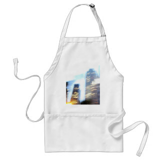 Zooming through Downtown LA at Night Adult Apron