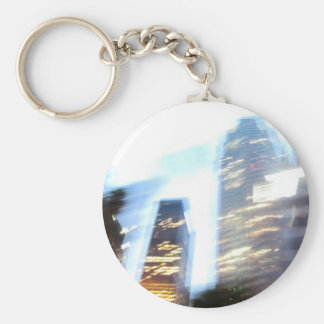 Zooming through Downtown LA at Night Keychain