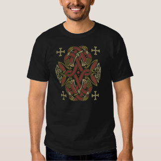 Zoomorphic  variation of the Celtic Cross Tee Shirt