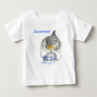 Zooommmmmm goes the blue car baby T-Shirt