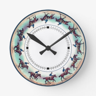 Zoopraxiscope Horse Galloping Round Clock