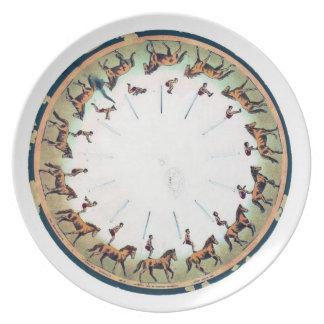 Zoopraxiscope - Horseback sommersault Dinner Plate