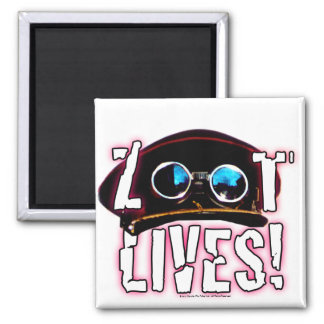 Zoot Lives 2 Inch Square Magnet
