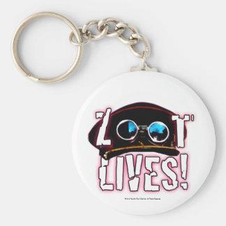 Zoot Lives Basic Round Button Keychain
