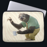 "Zootopia | A Working Sloth Computer Sleeve<br><div class=""desc"">Here stands Flash! The fastest working sloth you will ever meet... .if that really is possible! Flash is a friendly sloth in Disney&#39;s animated adventure, Zootopia. This chilled out sloth is polite, charming and he loves his morning cup of coffee. The smartly dressed animal shines in this adorable design as...</div>"