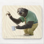 "Zootopia | A Working Sloth Mouse Pad<br><div class=""desc"">Here stands Flash! The fastest working sloth you will ever meet... .if that really is possible! Flash is a friendly sloth in Disney&#39;s animated adventure, Zootopia. This chilled out sloth is polite, charming and he loves his morning cup of coffee. The smartly dressed animal shines in this adorable design as...</div>"