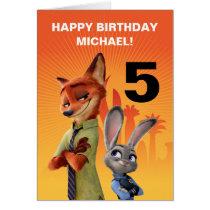 Zootopia Birthday Card
