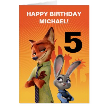 Disney Themed Zootopia Birthday Card
