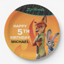 Zootopia Birthday Paper Plate