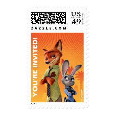 Disney Themed Zootopia Birthday Postage