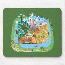 Zootopia   City Map Mouse Pad