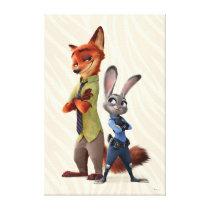 Zootopia | Judy & Nick Best Buddies Canvas Print