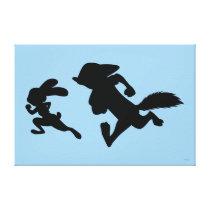 Zootopia | Judy & Nick Running Silhouette Canvas Print