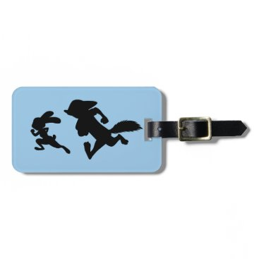 Disney Themed Zootopia | Judy & Nick Running Silhouette Luggage Tag