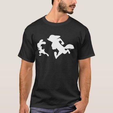 Disney Themed Zootopia | Judy & Nick Running Silhouette T-Shirt