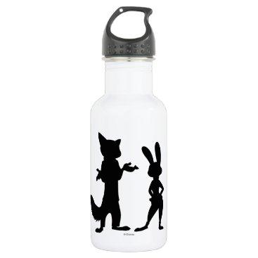 Disney Themed Zootopia | Judy & Nick Silhouette Water Bottle