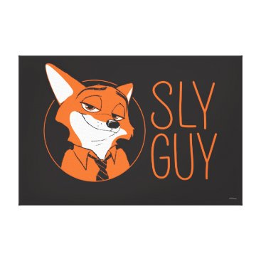 Disney Themed Zootopia | Nick Wilde - Sly Guy Canvas Print