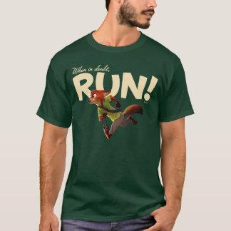 Zootopia | Nick Wilde - When in Doubt, RUN! T-Shirt