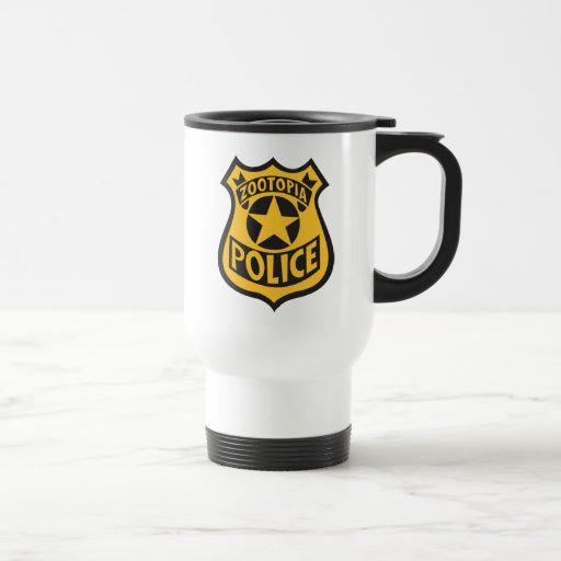 Zootopia Police Badge Travel Mug