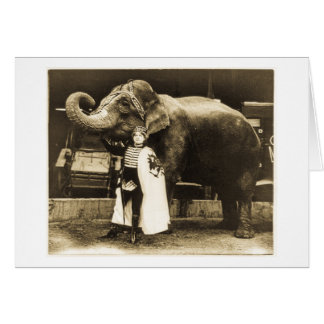 Zora and Trilby 1916 Greeting Card