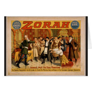 Zorah, 'Israel put to the torture' Retro Theater Greeting Cards