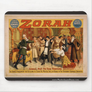 Zorah, 'Israel put to the torture' Retro Theater Mouse Pad