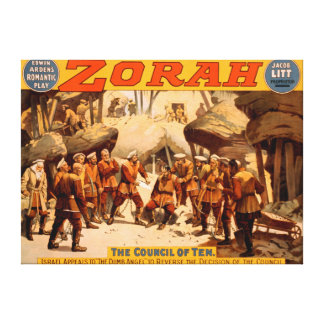 Zorah Russian Miners Theatrical Poster Canvas Print