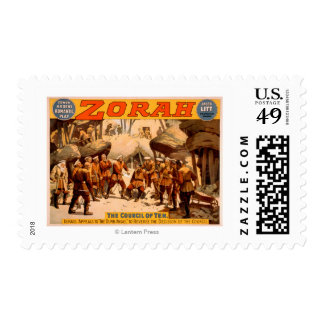 Zorah Russian Miners Theatrical Poster Postage Stamps