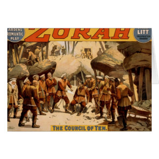 Zorah, 'The Council of Ten' Vintage Theater Card
