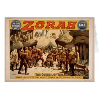 Zorah, 'The Council of Ten' Vintage Theater Cards