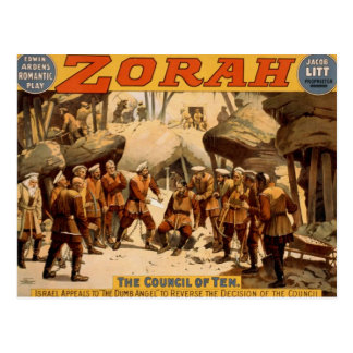 Zorah, 'The Council of Ten' Vintage Theater Post Card