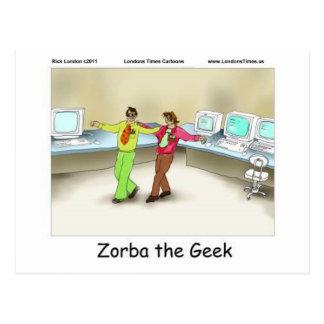 Zorba las tazas y las tarjetas divertidas de las c postales