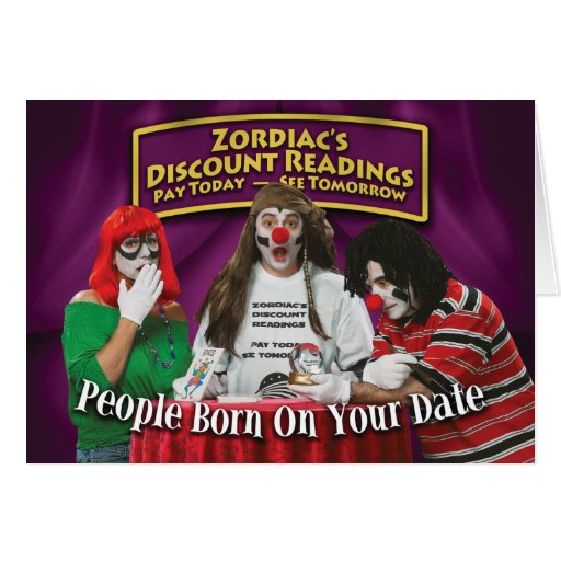 Zordia's Discount Birthday Readings Greeting Card