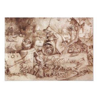 Zorn (Anger) by Pieter Bruegel the Elder Card