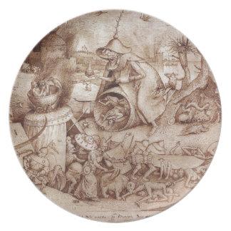 Zorn (Anger) by Pieter Bruegel the Elder Dinner Plate